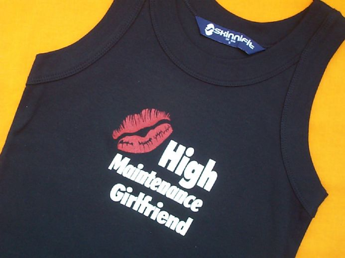 High Maintenance Girlfriend - Black - Fitted Vest